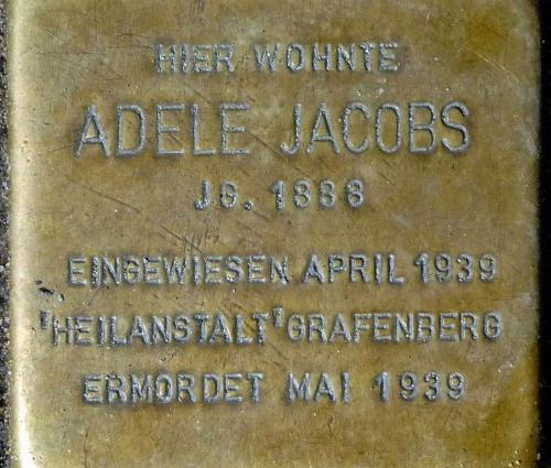 Stolperstein Adele Jacobs (1)