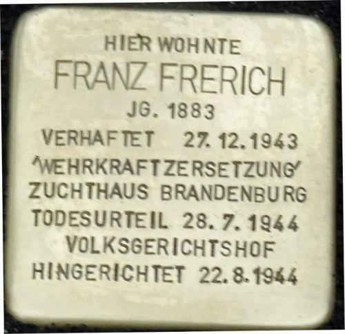 Stolperstein Franz Frerich (1)