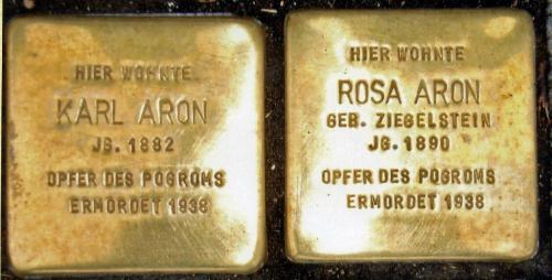Stolperstein Karl und Rosa Aaron (1)